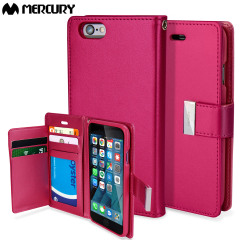 Mercury Rich Diary iPhone 6S Plus / 6 Plus Wallet Case - Hot Pink