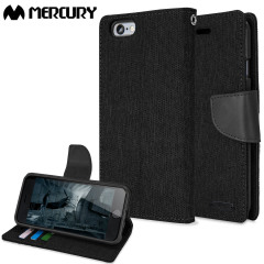 Mercury Canvas Diary iPhone 6S / 6 Wallet Case Hülle in Schwarz