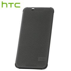 Official HTC Desire 620 Dot View Case - Warm Black