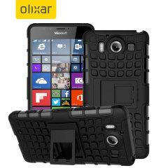 ArmourDillo Hybrid Microsoft Lumia 950 Hülle in Schwarz