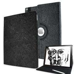 Olixar Floral Pattern Rotating iPad Pro 12.9 inch Smart Case - Black