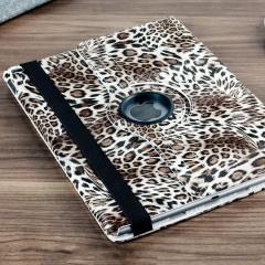 Olixar Leopard Pattern Rotating iPad Pro 12.9 inch Case  - Brown