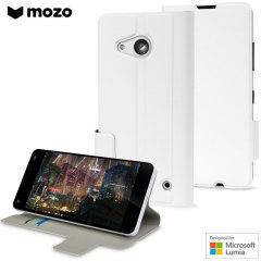 Mozo Microsoft Lumia 550 Flip Tasche in Weiß