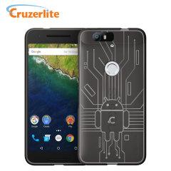 Cruzerlite Bugdroid Circuit Nexus 6P Case - Smoke