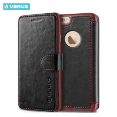 Verus Dandy Leather-Style iPhone 6/6S Wallet Case - Black