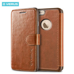 Veurs Dandy iPhone 6S / 6 Book Case Tasche in Braun