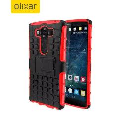 Olixar ArmourDillo Hybrid Protective LG V10 Case - Red