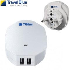 ravel Blue 2.1A Dual USB EU Ladgerät