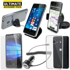 Das Ultimate Pack Microsoft Lumia 550 Zubehör Set in Schwarz