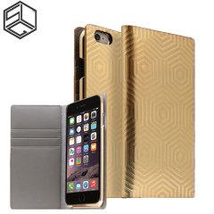 SLG Hologramm Leder iPhone 6S Plus / 6 Plus Schutzetui - Gold
