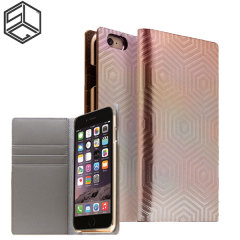 LG Hologramm Leder iPhone 6S Plus / 6 Plus Schutzetui - Rose Gold