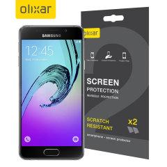 Olixar Display Schutzfolie für Samsung Galaxy A3 2016 2 in 1 Set