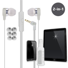 Weather-Resistant Earphones & Advanced Screen Cleaning Kit