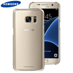 Original Samsung Galaxy S7 Clear Cover Case Hülle in Gold