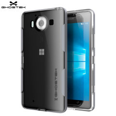 Ghostek Cloak Microsoft Lumia 950 Tough Case Hülle in Klar/ Silber