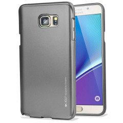 Mercury iJelly Samsung Galaxy Note 5 Gel Case - Metallic Grey