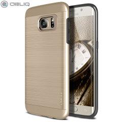 Obliq Slim Meta Samsung Galaxy S7 Edge Case Hülle in Champagner Gold