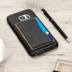 Olixar Leader-Style Samsung Galaxy S7 Wallet Card Slot Hülle Schwarz