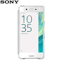 Official Sony Xperia X Style Cover Touch Case - White