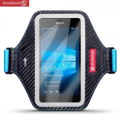 Shocksock Premium Microsoft Lumia 950 Armband Schwarz / Blau