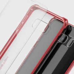Ghostek Covert Samsung Galaxy S7 Edge Bumper Case Hülle Klar / Rot