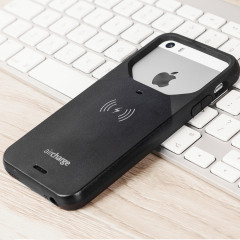 aircharge MFi Qi iPhone SE Wireless Charging Case Hülle in Schwarz
