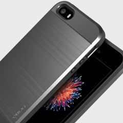 Obliq Slim Meta iPhone SE Case Hülle in Titanium Silber