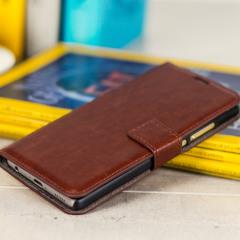Olixar Wallet Huawei P9 Tasche in Braun