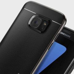 Spigen Neo Hybrid Samsung Galaxy S7 Edge Case - Gunmetal Grey