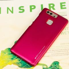 Mercury Goospery iJelly Huawei P9 Gel Hülle Metallic Hot Pink