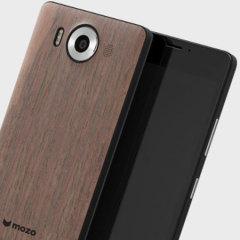 Mozo Microsoft Lumia 950 Wireless Charging Back Cover - Black Walnut