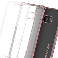 Ghostek Covert HTC 10 Bumper Case Hülle in Klar / Pink