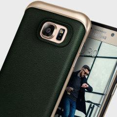 Caseology Envoy Series Samsung Galaxy S7 Edge Hülle Grün Leder