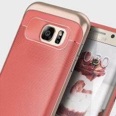 Caseology Wavelength Series Samsung Galaxy S7 Edge Case - Coral Pink