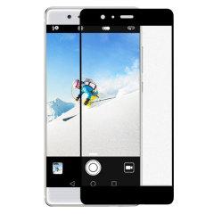 Olixar Full Cover Glas Huawei P9 Displayschutz in Schwarz