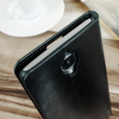 Olixar Leather-Style OnePlus 3T / 3 Wallet Stand Case - Black