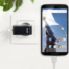 Olixar High Power 2.4A Google Nexus 6 EU Ladeadapter mit Kabel