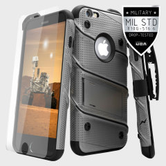 Zizo Bolt Series iPhone 6S / 6 Tough Case Hülle & Gürtelclip Steel