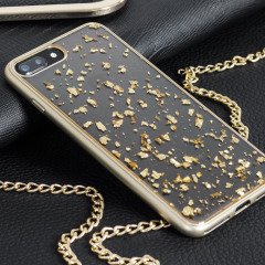 Prodigee Scene Treasure iPhone 7 Plus Hülle in Gold Sparkle