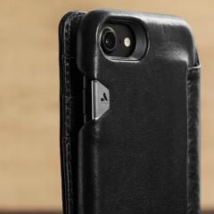 Vaja Wallet Agenda iPhone 7 Premium Leder Case in Schwarz