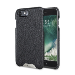 Vaja Grip iPhone 7 Premium Lederhülle Case in Schwarz / Rosso