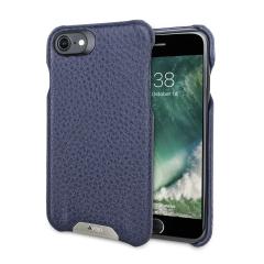 Vaja Grip iPhone 7 Premium Leather Case - Crown Blue / True Blue