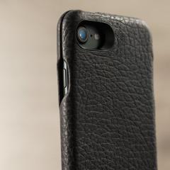 Vaja Ivo Top iPhone 7 Premium Leather Flip Case - Dark Brown