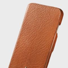 Vaja Agenda MG iPhone 7 Plus Premium Leder Flip Case in Tan