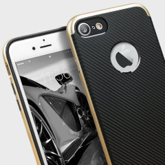 Olixar X-Duo iPhone 7 Hülle in Carbon Fibre Gold