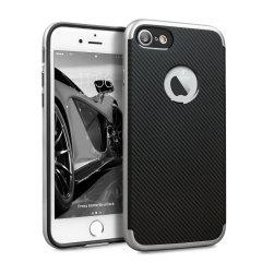 Olixar X-Duo iPhone 7 Case - Carbon Fibre Silver