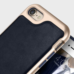 Caseology Envoy Series iPhone 8 / 7 Case - Leather Navy Blue