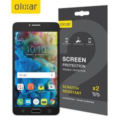 Olixar Alcatel POP 4S Displayschutz 2-in-1 Pack