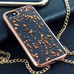 Prodigee Scene Treasure iPhone 7 Hülle in Rosa Gold Sparkle