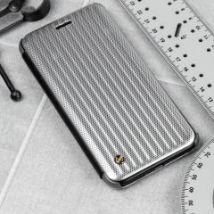 STIL Jet Set iPhone 7 Flip Case Hülle in Micro Silber
